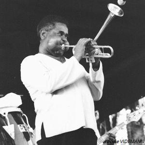 Dizzy Gillespie en 1981 à la Grande Parade De Nice (Photo Nicole Videmann)
