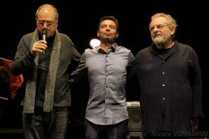 Enrico Pieranunzi, Diego Imbert et André Ceccarelli le 02 décembre 2017 au Musée des Confluences de Lyon