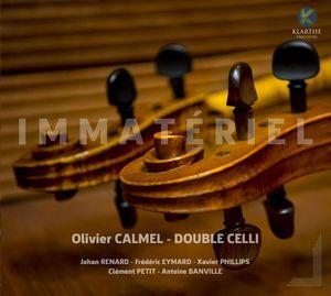 """Couverture de l'album """"Immatériel"""" d'Olivier Calmel - Double Celli"""