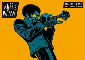 """Affiche 2018 du festival """"Jazz à Vienne"""""""