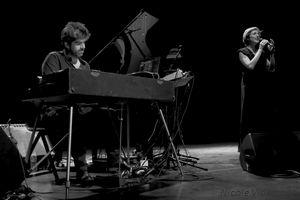 Benjamin Moussay et Claudia Solal, le 23 aout 2018 à Jazz Campus en Clunisois