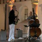 Jean-Marc Larcher et Yves Rousseau, le 23 aout 2018 à Jazz Campus en Clunisois