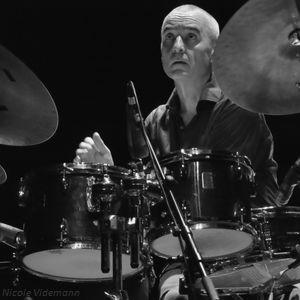 Le batteur Christophe Marguet dans Letters to Marlene à Jazz Campus en Clunisois le 22 aout 2018