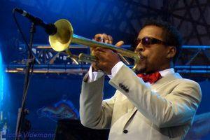 Le trompettiste Roy Hargrove le 11 juillet 2015 au festival Jazz à Vienne
