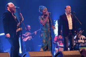 Echo#3-A Vaulx Jazz 2019_Thomas de Pourquery, Fabrice Martinez, Berlea Dieuveille Bilemboloe