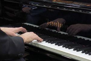 Les mains du pianiste Mario Stanchev sur le clavier du Bosendorfer le 02/04/19 à Lyon Music